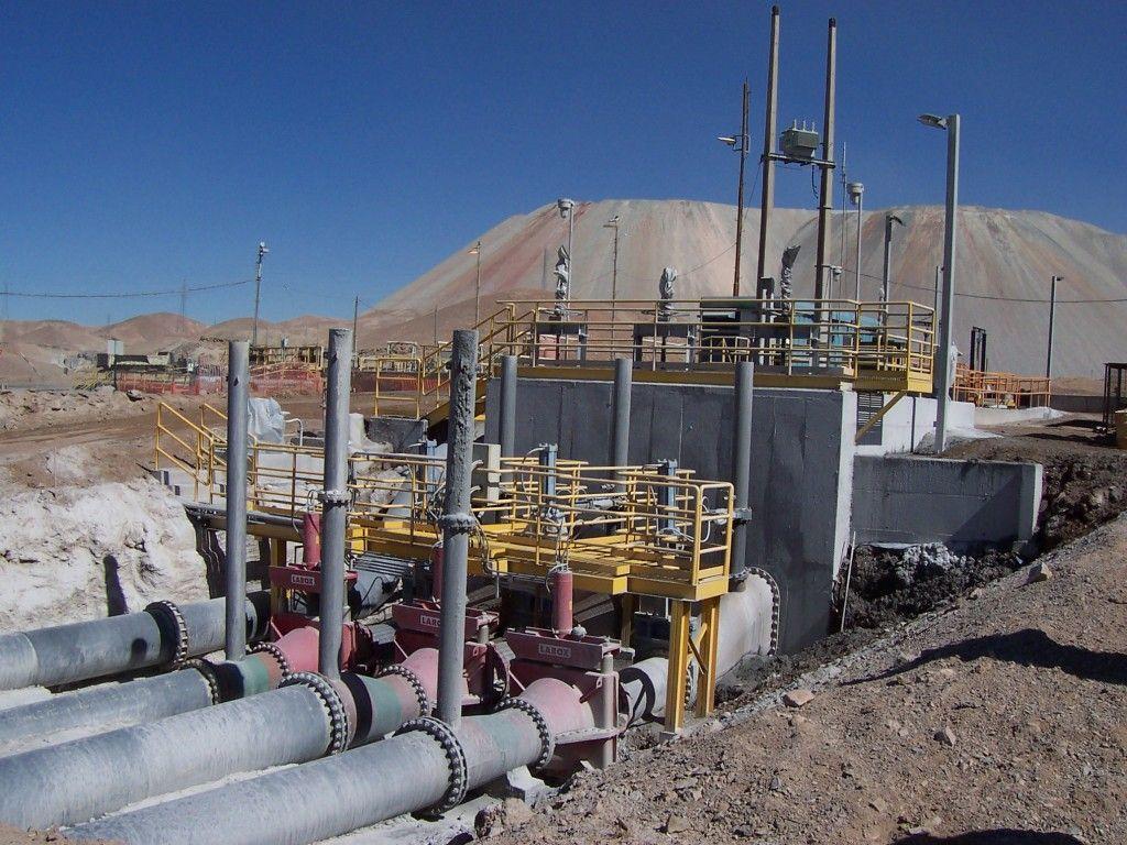 Cámara de Carga C1 de Relaves - Tranque Talabre - Chuquicamata